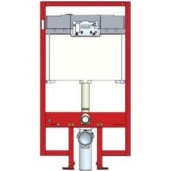 Toto WT152800M#WH Duofit in Wall Tank System, Copper Pipe with Push Plate