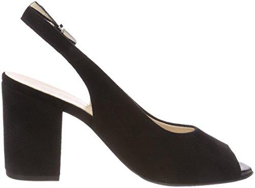 Abierta Peter de Negro Tacón Zapatos para Aniza Mujer Kaiser Punta con Schwarz 240 Suede qq0Tg