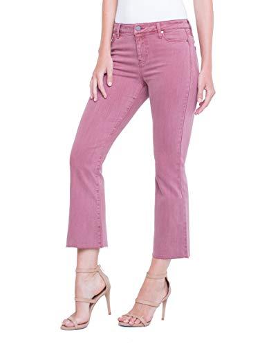 Liverpool Women's Hannah Crop Flare in Slub Stretch Twill Jeans, Roan Rouge, 8 ()