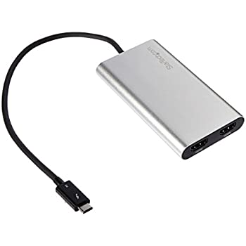 StarTech TB32HD2 Thunderbolt 3 to Dual HDMI Adapter - 4K 30Hz - Windows Only Compatible - Thunderbolt 3 to HDMI - USB-C to HDMI