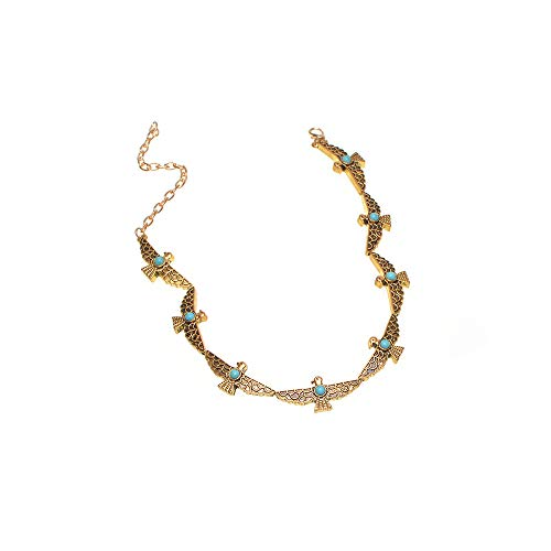 Popular tide female European version necklace alloy peace pigeon neck chain coil(Gold one size) - European Imports Necklace