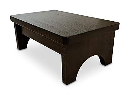 Prime Hollandcraft 6 Inch Wooden Foot Stool Hidden Wood Dowels No Screws Staples Or Nails Machost Co Dining Chair Design Ideas Machostcouk