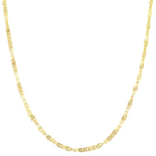 10k Yellow Gold 1.8mm Flat Twisted Love Chain (18 inch) by Kooljewelry (Image #5)