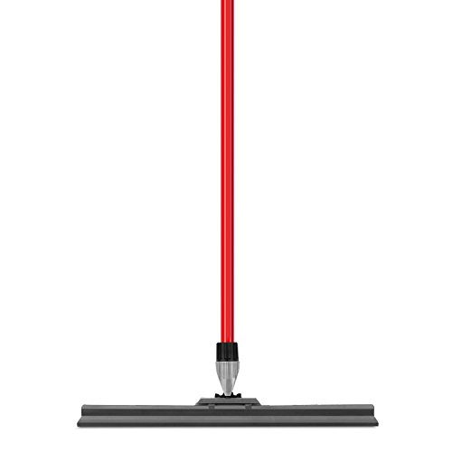 Floor Squeegee By Ravmag- Uber Durable Silicone Blade (17-inch Wide)- Adjustable Knuckle Joint- Perfect for Wood Tile Marble Concrete & Glass - 58-inch Long Handle - Lightweight Design by RAVMAG (Image #1)