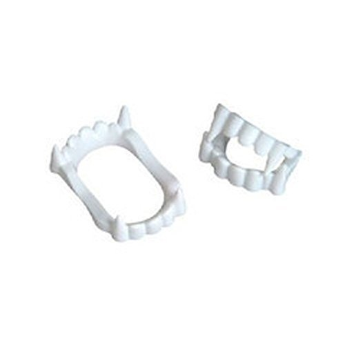 [12 White Vampire Fangs, Plastic Teeth, Costume Accessory Party Favors] (Vampire Dress For Kids)
