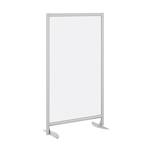 Bush Business Furniture Freestanding Frosted Acrylic Privacy Panel with Stationary Base by Bush Business Furniture
