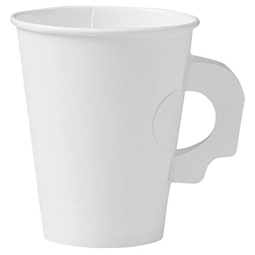 Paper Cups With Handles (Solo 378HW-2050 8 oz White SSP Paper Hot Cup (Case of)