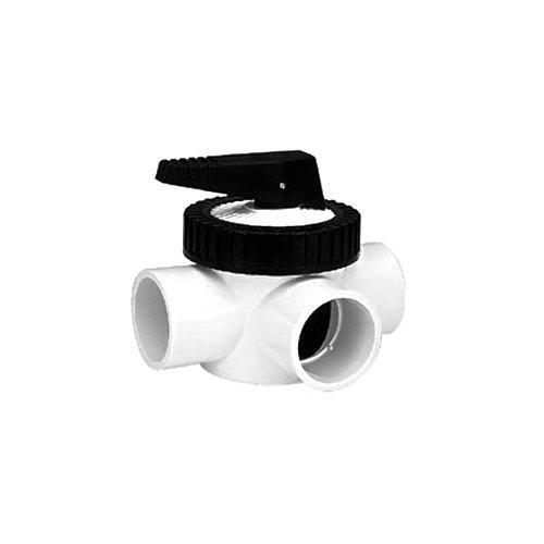 TVI Thermoplastic Valves PV:0200PVP00EES00 Pool Valve, 3-Way, PVC/EPDM (Seat), Socket Ends, 2