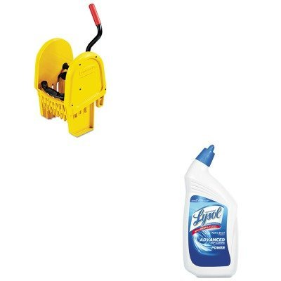 KITRAC74278CTRCP757588YEL - Value Kit - Rubbermaid-Wavebrake Bucket,Down Press Wring, Yel (RCP757588YEL) and Professional LYSOL Brand Disinfectant Toilet Bowl Cleaner (RAC74278CT)