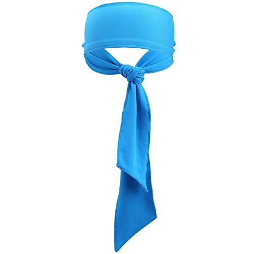 Sportmusies Sport Headbands for Men Women, Running Workout Head Tie Mositure Wicking Sweatbands,Blue