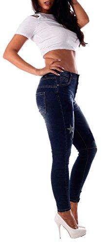Damen Jeans Baggy Style Multi Star