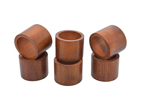 - Handmade Rustic Wooden Napkin Rings for Wedding Party Decoration Dinning Table Occasion Everyday Family Gatherings, Set of 6 - Natural - A Beautiful Emphasize to Your Dining Table décor