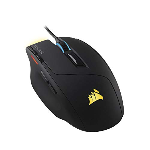 Corsair Sabre RGB Optical Gaming Mouse (10000 DPI Optical Sensor, Lightweight, 8 Programmable Buttons, 4-Zone RGB Multi-Colour Backlighting, Xbox One Compatible) - Black