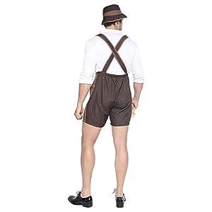 EraSpooky Men's Oktoberfest Costume Lederhosen German Bavarian Guy Set Halloween