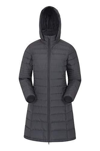 Mountain Warehouse Furnace Long Down Womens Padded Jacket – Water Resistant Raincoat, Lightweight Ladies Winter Coat…