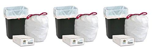 Expandable Drawstring Trash Can Liner, 16 gallon Capacity, 25.12
