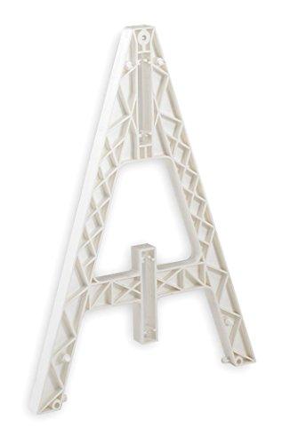 Cortina Safety Products Group 97-01-004 Cortina Safety Products White Traffic Barricade A-Frame with Slots Used for Weight Cartridges and Boards, Plastic, 29