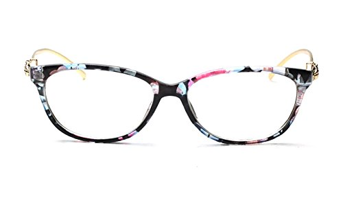 41d0b91ac9b63 Caixia Women s SJT-9188 Plastic Frame Cobra Accent Cateye Glasses Small  Size (floral