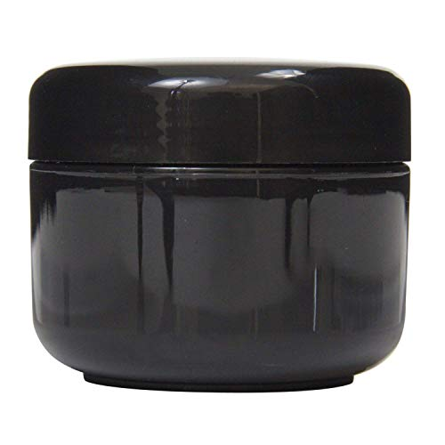 Houseables Black Jar Lotion Container, 2 Oz, 60 ML Gram Capa