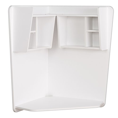 Prepac WEHW-0202-1 Floating Corner Desk, White by Prepac