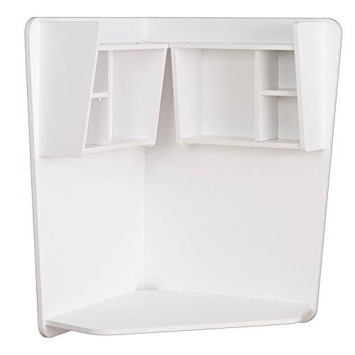 Prepac WEHW-0202-1 Floating Corner Desk, White