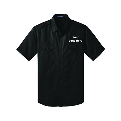 Sleeve Twill Shirt - 24 Quantity - $36.65 Each with Your Logo/Customized Black (Logoed Sweatshirt Black)