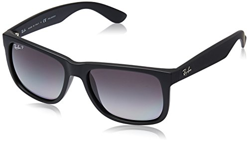ray-ban-justin-black-rubber-frame-polar-grey-gradient-lenses-55mm-polarized