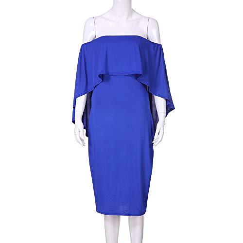 Slim Bretelle Crayon Unie Loisirs Robe Fte Femme Bleu Mode sans Coupe Couleur de Frenchenal Sexy 1WqTZ4Byv