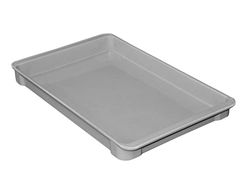 MFG Tray 8040085136 Toteline Stacking Container, Glass Fiber Reinforce, Plastic Composite, 18.75'' x 11.88'' x 1.75'', Gray by MFG Tray