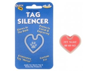 Id Tag Large Bone (Quick Tag ID Tag Silencers- (Large Heart Tag))