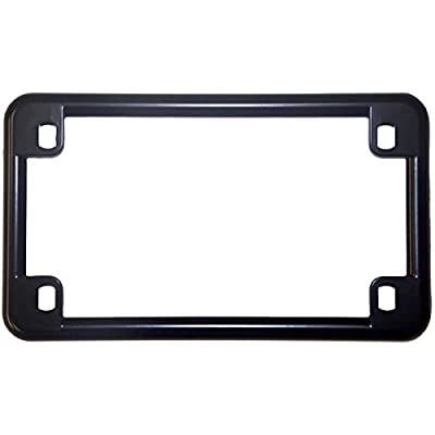 Chris Products 0610 Black Chrome Finish Motorcycle License Plate Frame: Automotive