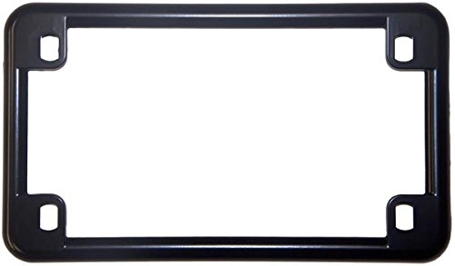 Chris Products 0610 Black Chrome Finish Motorcycle License Plate Frame ()