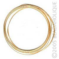 5 Feet Beadaholique 14K Gold Filled Wire 22 Gauge Round Half Hard
