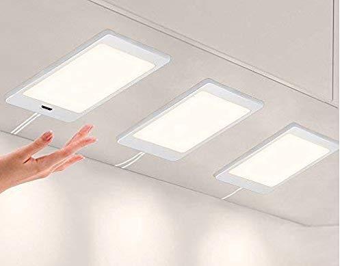 Skylight Patented I-PAD Design LED Cabinet Light - Naturel White Light (3,000k) - Under Cabinet and Furniture - 12V - Dimmable - Low-Voltage- Code 20854B (20854M-3 Pack Set)