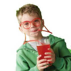 Weird Gifts: Adult Party Decorations - Party Drinking Straw Glasses Play Ps3 and Drink in Same Time - - Make Your Party Funny More (Random Color)