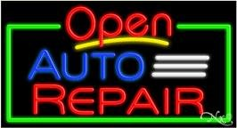 (Auto Repair & Open Neon Sign - 20'' x)
