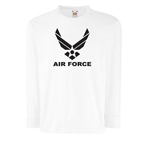 63b5008161cf Kids Boys/Girls T-Shirt United States Air Force (USAF) - U. S. Army, USA  Armed Forces (3-4 Years White Black) - Buy Online in Oman.