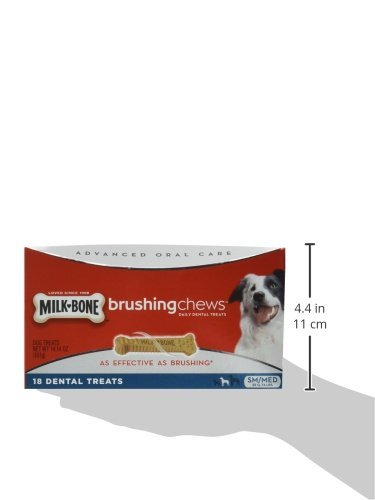 Milk-Bone Brushing Chews, Small/Medium Twin Pack (36 Bones, 28.3 oz.)