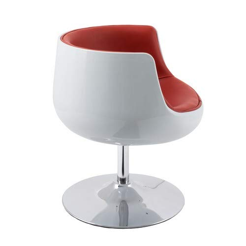 Red White CorLivingDLN-350-C Mod Collection Accent Chair