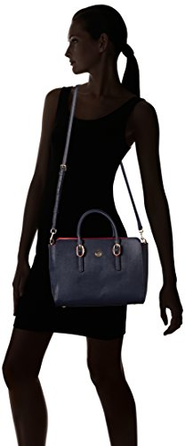 Cross Hilfiger Bag Women's Navy Satchel Blue Body Tommy Th Buckle Tommy wXOS1Bqdq