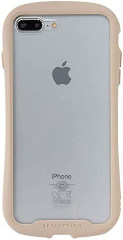iFace Reflection iPhone8 Plus/7 Plus ケース クリア 強化ガラス [ベージュ]