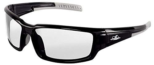 (Bullhead Safety Eyewear BH1431AF Maki, Crystal Black Frame, Clear Anti-Fog Lens, Light Gray TPR Nose Piece/Temple (1 Pair))
