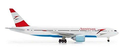 Herpa 506786-002 Austrian Airlines Boeing 777-200 Blue Danube OE-LPE 1:500 Diecast Model by Herpa