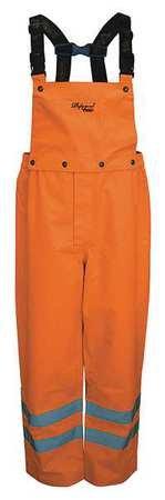Rain Bib, 300D Trilobal, Orange, 2XL