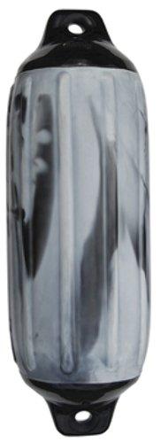 SUPER GARD SWIRL FENDER-Silver Mist/Black, 6-1/2