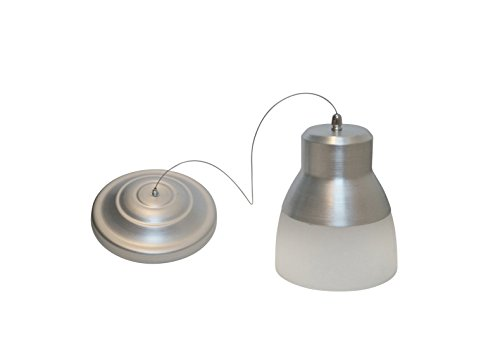 It's Exciting Lighting IEL-5778 Glass Pendant Nickel IR LED Light With Brushed Nickel And Frosted Glass Shade, Battery Operated With 24 Included LEDs (Operated Hanging Battery Lights)