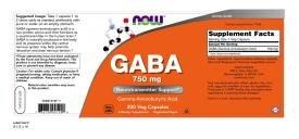 NOW GABA 750 mg,200 Veg Capsules