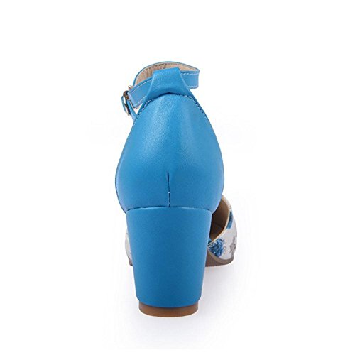 JOJONUNU Punta Verano Sandalias Mujer Blue Cerrada W6wq1BxwgT