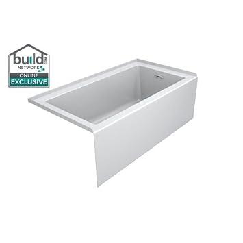 Jacuzzi LNS6036BRXXXX Linea 60u0026quot; X 36u0026quot; Acrylic Soaking Bathtub For  Three ...