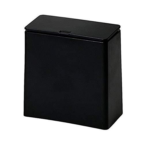 Designer Rectangular Bin - Ideaco TUBELOR Mini Flap Designer Rectangular Counter or Desktop Waste Bin with Lid and Concealed Bag 0.4 Gal /1.4L, Black